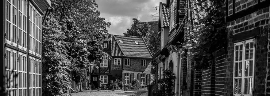 Village en noir et blanc