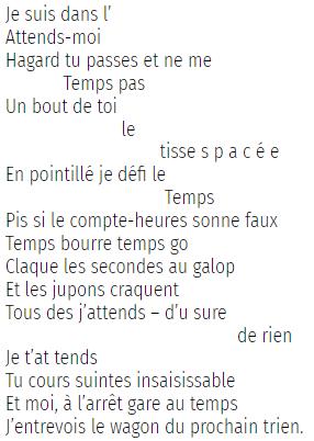 Poème sur le temps